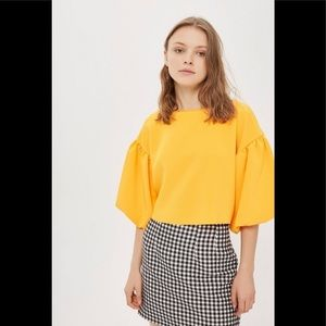 Topshop Bright Yellow Orange Top